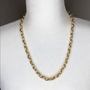 NWT! Marvella gold tone and faux pearl necklace